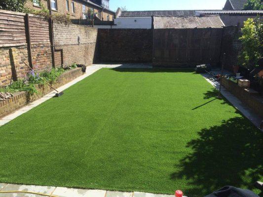 Big artificial lawn
